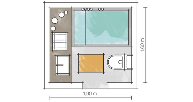 Banheiros pequenos e eficientes!  Decasapramoda Blog -> Banheiro Pequeno Com Banheira De Alvenaria