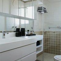 Banheiros pequenos e eficientes!