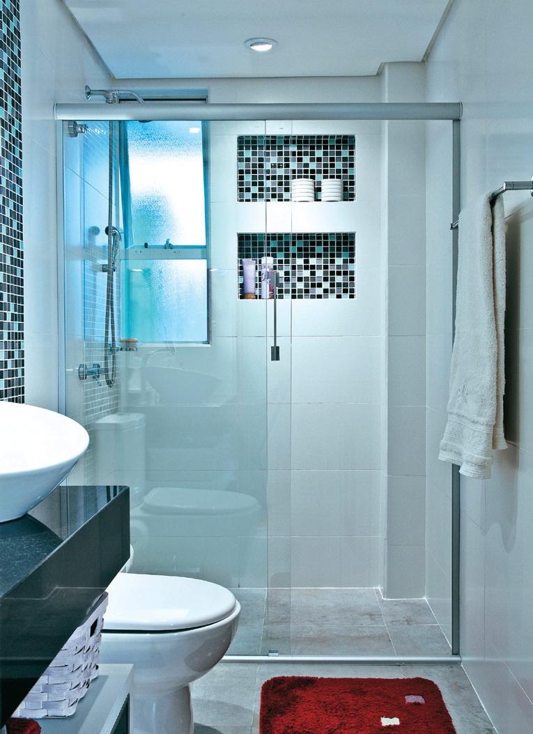 Banheiros pequenos e eficientes! – Decasapramoda Blog # Nicho Para Banheiro Campinas