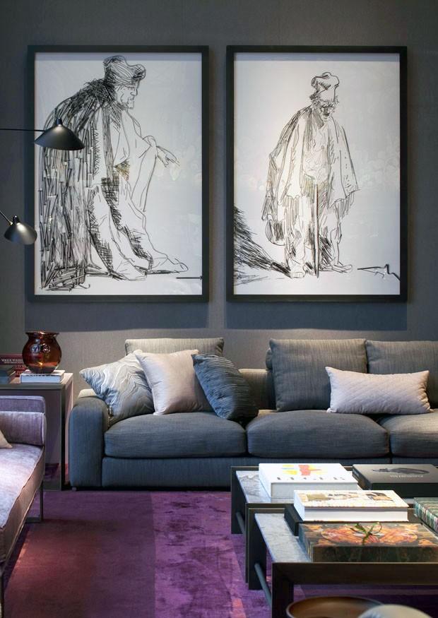 Cinza!! Amo cinza!! Fica sofisticado e deixa as outras cores mais poderosas tambem!!! Lindo projeto de Roberto Migotto!