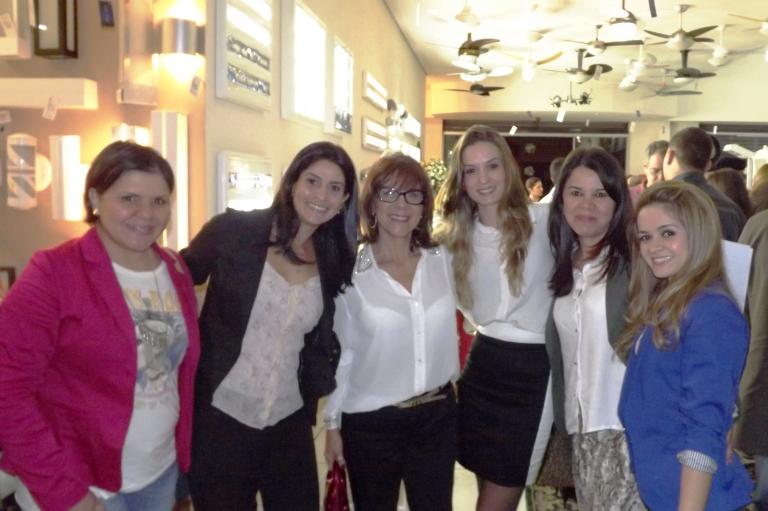 Amigas designers prestigiando o evento: Alini Petrocelli, Flávia Trovó, Sonia Martins, Sara Perez, Evilani Gobato e eu!!!