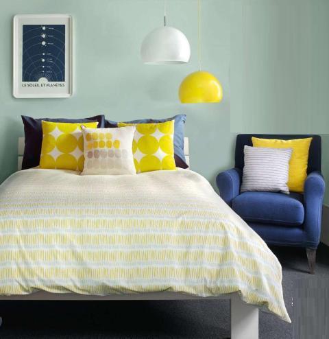 azul amarelo