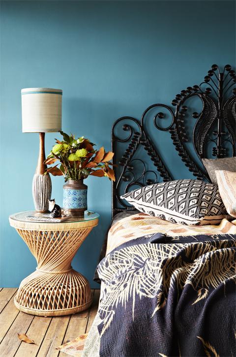 O azul nas paredes traz harmonia, aconchego e tranquilidade!!!