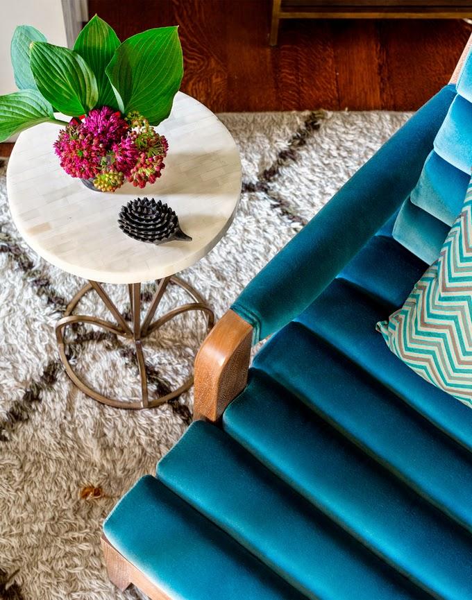 chaise azul
