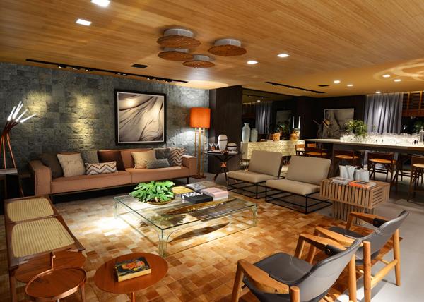 Madeira, cobre, texturas e formas deixam os ambientes sempre sofisticados!!