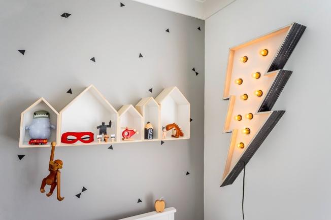Pontos geométricos pintados na parede, peças de decoração que ativam a criatividade!!!