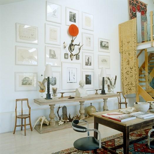 paredes com quadros