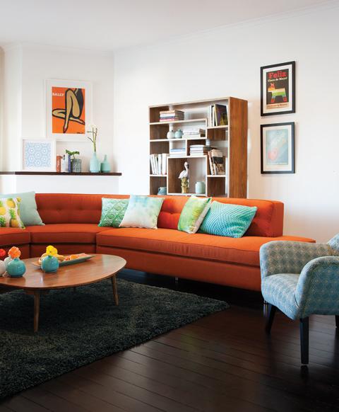 Pensou em um sofá colorido??