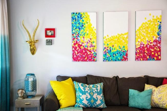 Telas e decoração levam cor ao ambiente!
