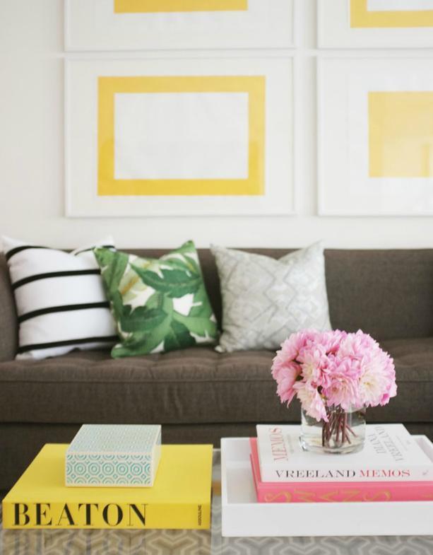 Amarelo nos detalhes, alegria no lar!!