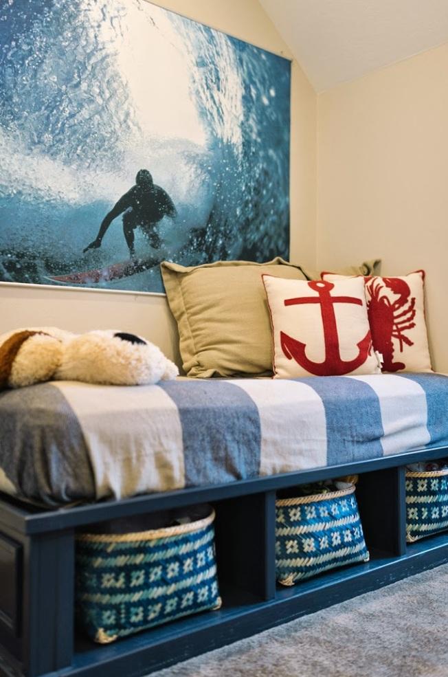 Um lindo quarto com enxoval azul!!