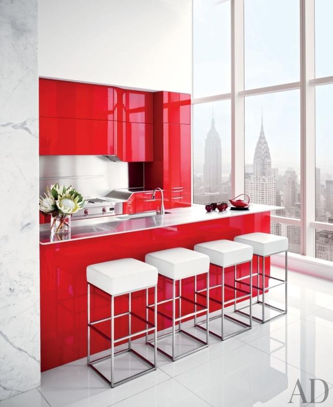 Ousadia na cozinha!!! Marcante e convidativa com o vermelho!!