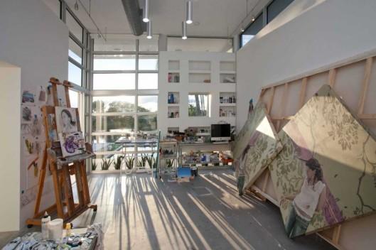 studio e lar da artista plastica