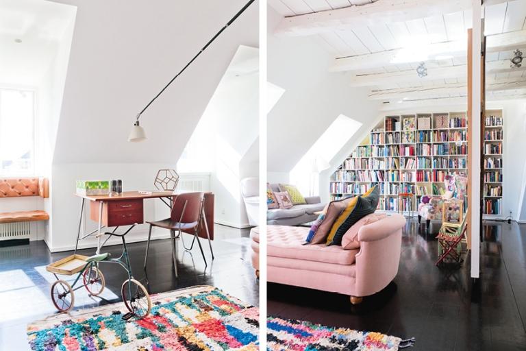 Sala de leitura aconchegante