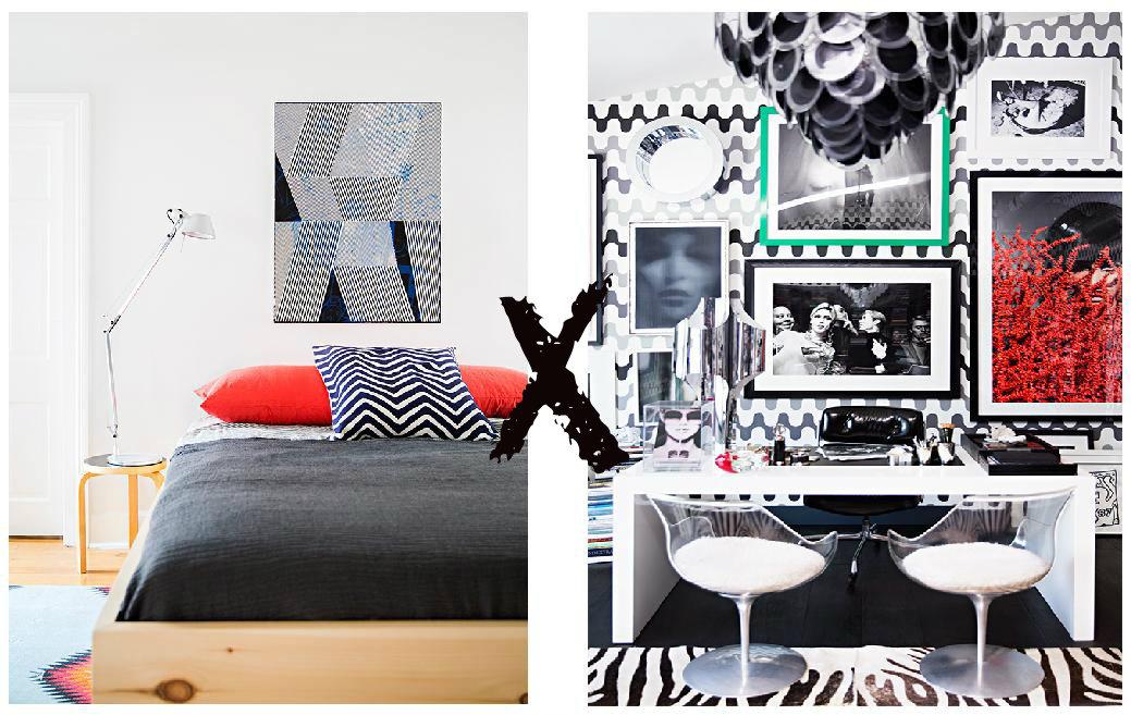 Minimalismo X Maximalismo. A padronagem das estampas nos permite decorar com classe todos os ambientes.